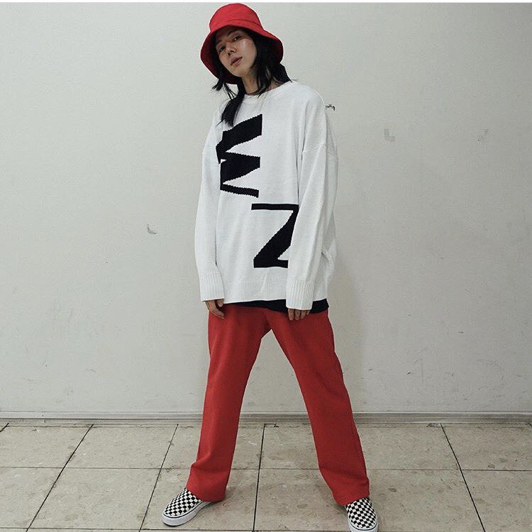 Abbreviation Full Knit White/Black